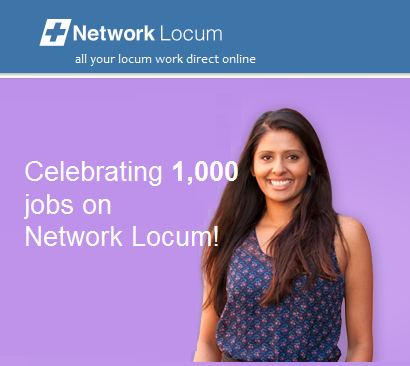 Network Locum has had 1,000 jobs posted!